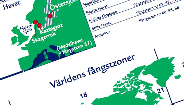 fiskezoner karta Fångstzonkarta | Sjömatsfrämjandet fiskezoner karta
